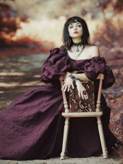 Ольга (Insomnia Dress). Цена проката: 2000₽; эпоха: Бидермейер; цвет: Фиолетовый; размер: 42-44