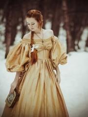 Светлана (Insomnia Dress). Цена проката: 2000₽; эпоха: Бидермейер; цвет: Желтый; размер: 40-42