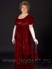 Бордовый ампир (Joyscat). эпоха: Ампир; цвет: Красный; размер: 50-52