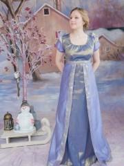 Эдельвейс (Екатерина Андрейченко). Цена проката: 1700₽; эпоха: Ампир; цвет: Голубой; размер: 44-46