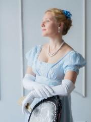Незабудка (Екатерина Андрейченко). Цена проката: 1700₽; эпоха: Ампир; цвет: Голубой; размер: 40-42