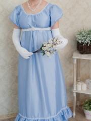 Гортензия (Екатерина Андрейченко). Цена проката: 1500₽; эпоха: Ампир; цвет: Голубой; размер: 44-46