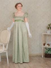 Шарлотта (Екатерина Андрейченко). Цена проката: 1500₽; эпоха: Ампир; цвет: Зеленый; размер: 40-42